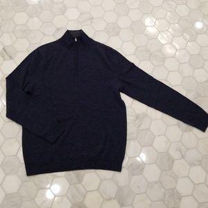 Express Wool Blue Mock Neck Sweater